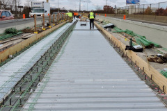 November 2019  - Deck pans in place on the viaduct before paving begins.