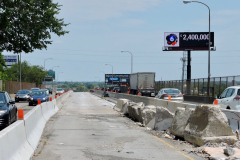 July 2019 - Large chunks of the concrete median await removal for reconstruction of the median.